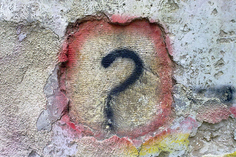 Question Mark in graffiti on a wall: Adoptive mum questions