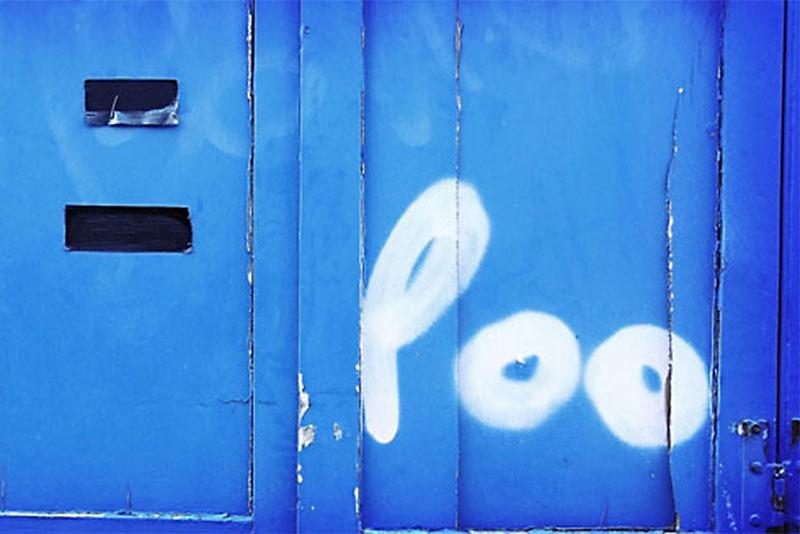 Poo graffiti