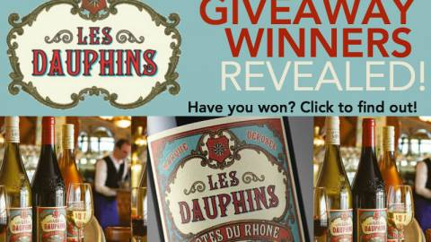 Les Dauphins Wine Giveaway WINNERS