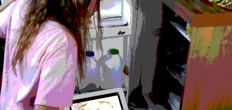 Tweenager on her iPad
