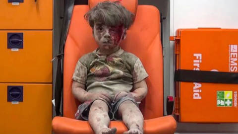 Syrian Boy in the Ambulance
