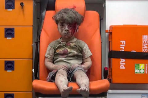 Syrian Boy in the Ambulance