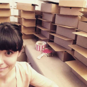 Me with boxes