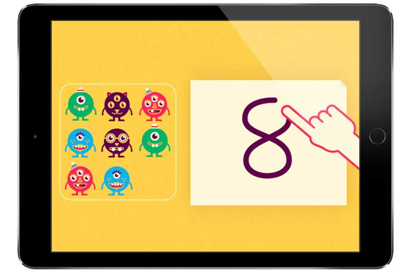 Top five apps for pre-schoolers ipad with Quick Maths Jr app loaded