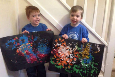 Autumn Activities: Firework Paintings