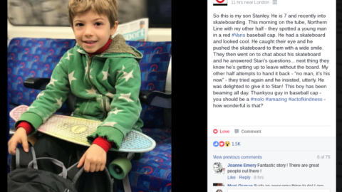 #FindTheSkater: A Random Act of Kindness on the Tube